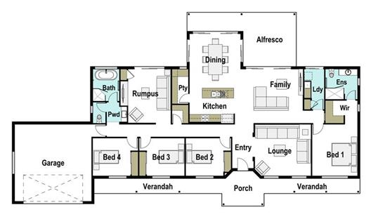 House Design Floor Plan Grand 295