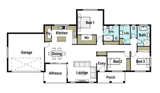 House Design Floor Plan Gunnedah 205