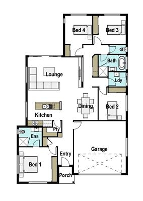 House Design Floor Plan Horizon 190