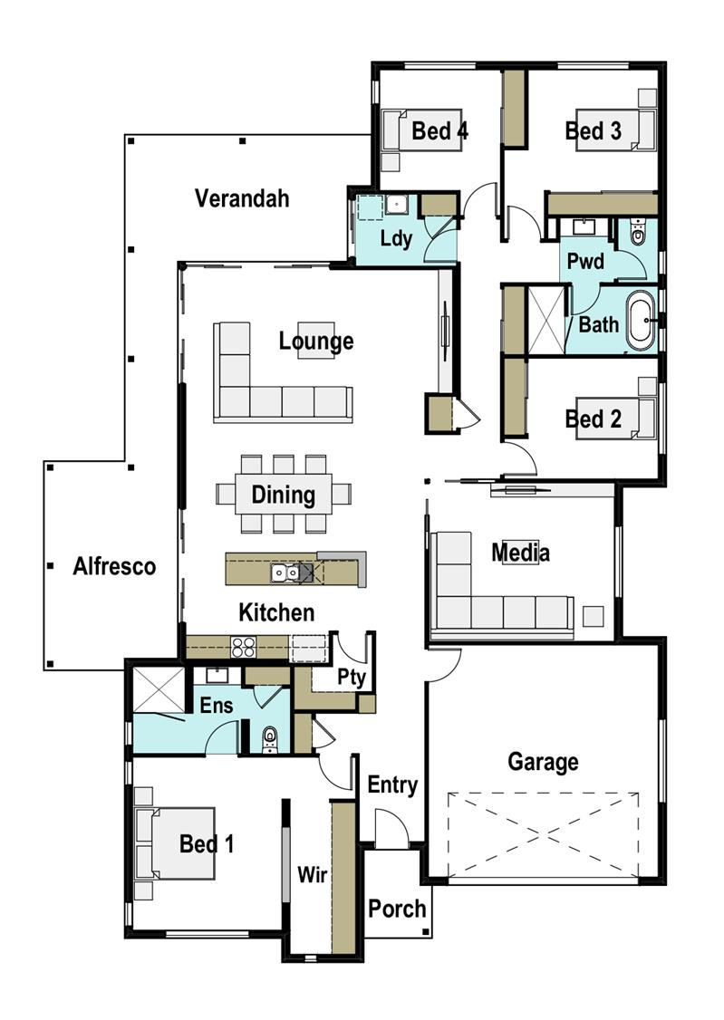30 Floor Designs That Lay A World Of Possibilities At Your: Horizon 30 Design Detail And Floor Plan