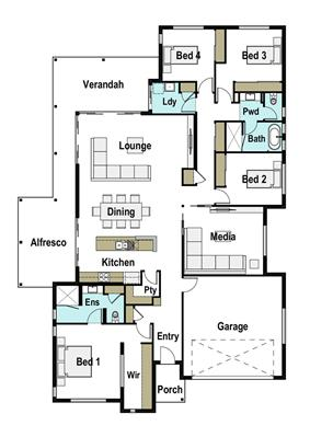 House Design Floor Plan Horizon 280