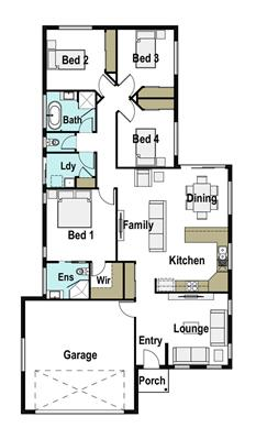 House Design Floor Plan Mackay 180