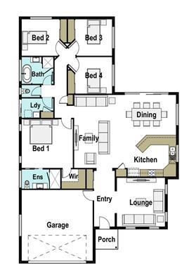 House Design Floor Plan Mackay 205
