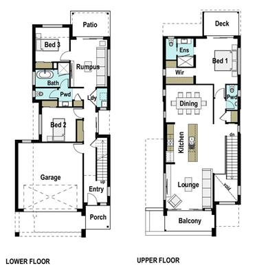 House Design Floor Plan Paddington 235