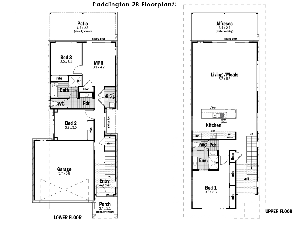 Homes Of Integrity Floor Plans: Paddington 28 Design Detail And Floor Plan