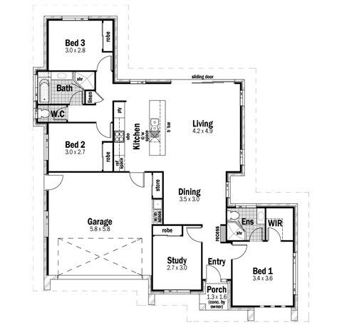 House Design Floor Plan Plateau 18