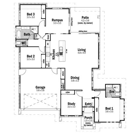 House Design Floor Plan Plateau 22