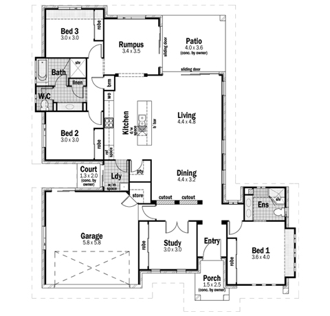 House Design Floor Plan Plateau 24