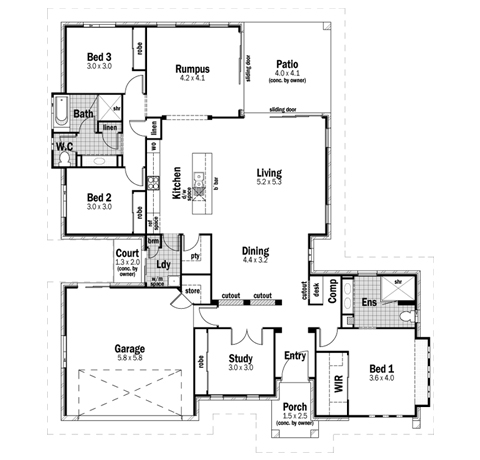 House Design Floor Plan Plateau 27