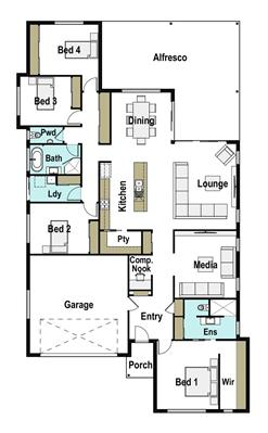House Design Floor Plan Presence 290