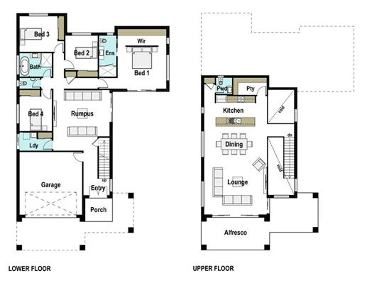 House Design Floor Plan Ridgeway 325