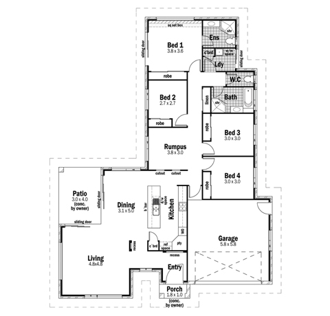 House Design Floor Plan Sovereign 23