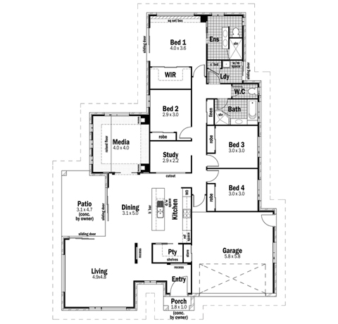 House Design Floor Plan Sovereign 26