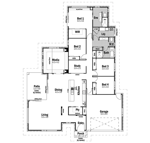 House Design Floor Plan Sovereign 28