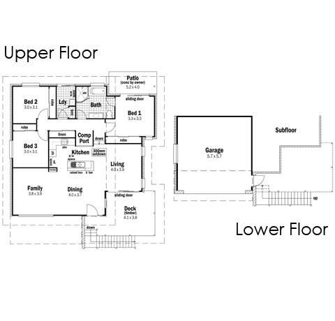 House Design Floor Plan Tasman 20