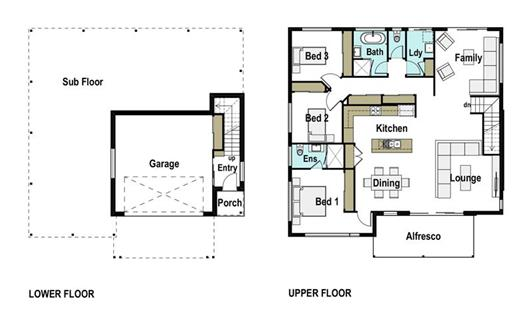 House Design Floor Plan Tasman 215
