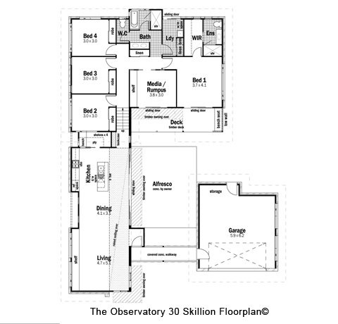 House Design Floor Plan The Observatory