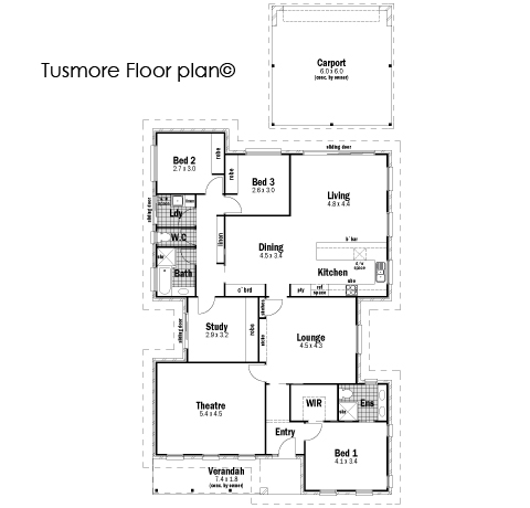 House Design Floor Plan Tusmore