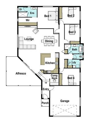House Design Floor Plan Valley View 260