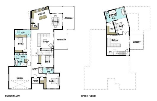 House Design Floor Plan Whitsunday 330