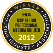 We did it again! WINNER HIA NSW Professional Medium Builder of the Year 2012!